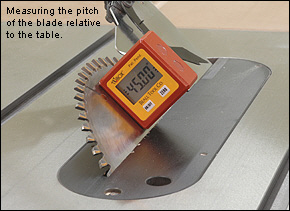 Tilt Box™ Digital Inclinometer for Tool Setting - Woodworking